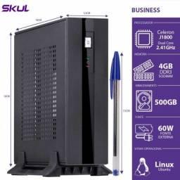 mini computador dual core j1800 2.41ghz 4gb ddr3 hd 500gb hdmi ext. 60w
