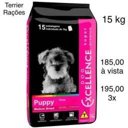 Ração  Dog Excellence Super Premium Cães FILHOTES Raças Médias 15 kg
