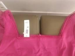 Título do anúncio: Blusa Cropped rosa G