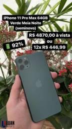 Título do anúncio: iPhone 11 Pro Max 64GB Verde Meia Noite (Seminovo)