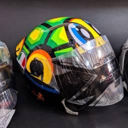 Capacete Aberto Envelopado Pro Tork New Liberty 3 Turtle Valentino Rossi