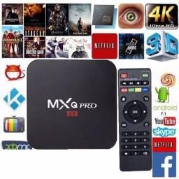 Título do anúncio: Tv Box Smart 4k Pro Android 11.1 8gb Ram 128gb de Memória WiFi MXQ PRO