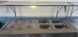 Mesa quente elétrica para buffet/restaurante/self-service