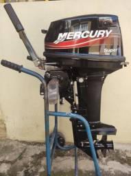 MOTOR DE POPA MERCURY SUPER 15HP ZERO KM