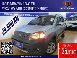 Título do anúncio: Fiat Uno 1.0 EVO Way 8v Flex 4p Completo Só 29.500 Km