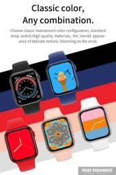 Smartwatch NOVO! modelo UP6 (cor preto) + pulseira milanesa