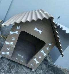 Casinha para Cachorro de Grande Porte em Madeira e Brasilit