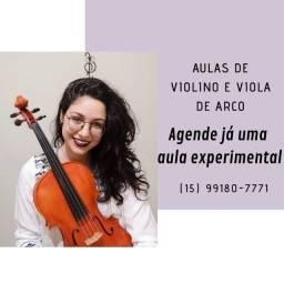 Aulas Semanais de Violino e Viola de Arco