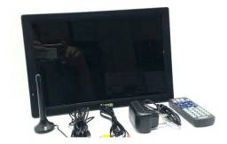 TV MONITOR SLIM 14 POLEGADAS LED HDTV PORTÁTIL<br>(possui bateria recarregável)