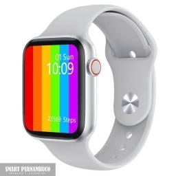 Smartwatch NOVO! modelo W16 (cor branca) + pulseira milanesa