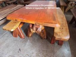 Vendo Mesas Rústicas de Angico entre 2 a 3Mts - Fazemos Entregas em toda região