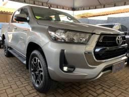 Título do anúncio: Toyota Hilux SRV Automática 4x2 2.7 Flex Prata 2021/2021