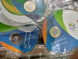 3 blister oficial das olimpiadas com as moedas