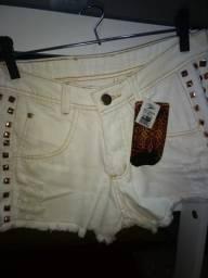 Short Branco 42 sem laycra