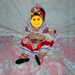 Vestido junino pra bebê até 1 ano