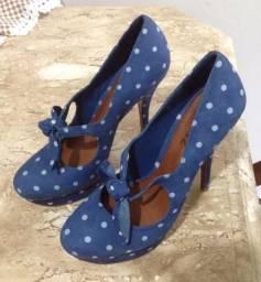 Sapato Poá Azul - 37