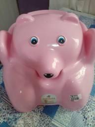 Trono ursinho rosa