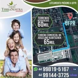 Terreno comercial em Palotina - 100 metros da faculdade UFPR