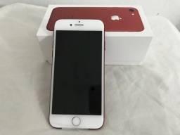 Iphone 7 red 256g novo com garantia até abril 2020. (82) 99412-3508