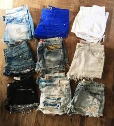 Short jeans - lote com 9 peças número 38