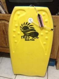 Prancha de bodyboard infantil amarela e azul