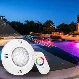 Kit iluminação p/ piscina RGB | 3 Spots 18w