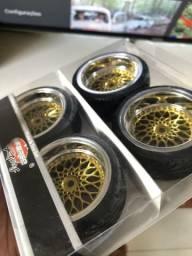 JG rodas e pneus BBS duas talas Auto RC 1/10