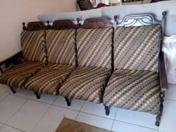 Vendo jogo de sofá colonial madeira maciça