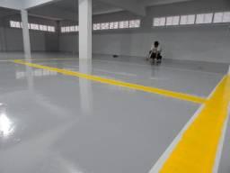 Piso Epóxi para garagens, estacionamentos, oficinas