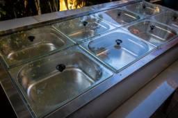 Rechaud / Buffet banho maria elétrico inox