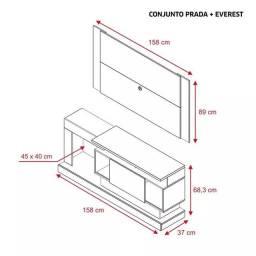 Rack prada + painel Everest QAD442