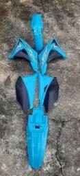Título do anúncio: Kit Plastico Crf 230 Biker Elite Azul<br><br>