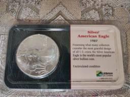 Título do anúncio: Moeda de prata American Eagle - 1987