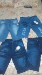 Título do anúncio: 5 Bermudas Jeans Masculinas Com Lycra Atacado