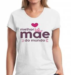 Camisa Personalizada Dia das mães