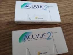 Vendo caixa de lentes de contato Acuvue2 - 2,75 e -3,25 - R$ 220,00