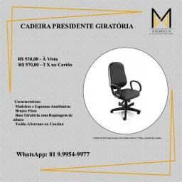 Título do anúncio: Cadeira Giratória Alta Presidente