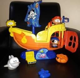 Brinquedo Navio Pirata Tipo Fisher Price_ Little Tikes (40 Cm).