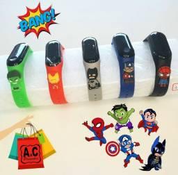 Relógio Infantil Led Digital Super Heróis