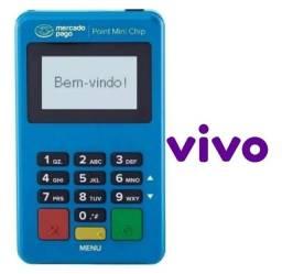 Título do anúncio: Point Mini Chip Maquininha De Cartão Mercado Pago Chip Vivo