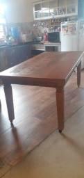 Título do anúncio: Mesa madeira demolição Peroba - 2,00 mt x 1,00 mt