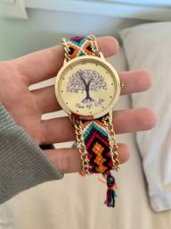 Relógio pulseira de pano