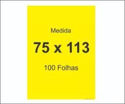 Cartaz Amarelo ( liso 75 x 113 )