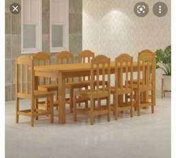 Mesa super grande 8 cadeiras
