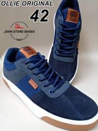 Título do anúncio: Sapato OLLIE azul marinho.