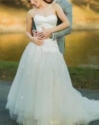 Vestido de noiva da grife Cymbeline - estilo princesa