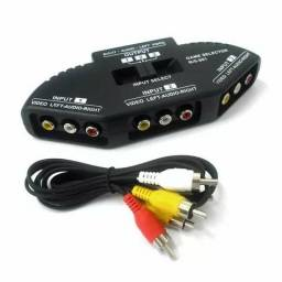 Chave Seletora Audio Video Chaveador Cabo Rca