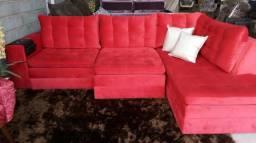 Sofá retratil de canto luxuoso com preço de fábrica.