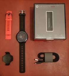 Amazfit Pace Smartwatch Xiaomi Mp3 Gps + pulseira extra e película na tela