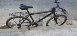 Bicicleta Caloi Supra - Aro 26 - 21 Marchas - Sispensão Dianteira - Alumínio - Preto